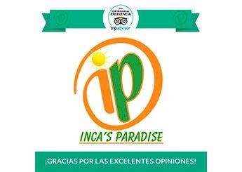 CERTIFICADO DE EXECELENCIA TRIPADVISOR 2018 INCA'S PARADISE AGENCIA DE VIAJES PUNO