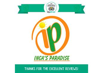 CERTIFICATE OF EXECELLENCE TRIPADVISOR 2018 INCA'S PARADISE TRAVEL AGENCY PUNO