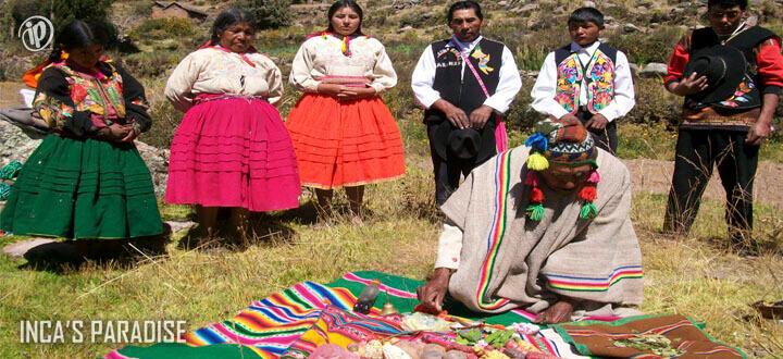 Ceremonia en Paramis en Puno